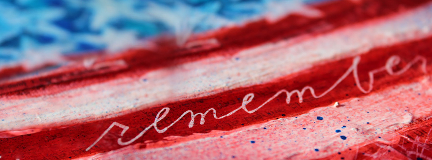 4th of July / Memorial Day Facebook Timeline Covers with American Flag Drawing