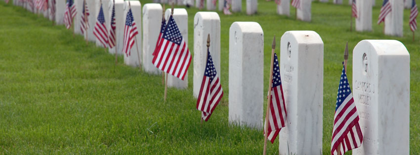 Military Cemetery Facebook Cover - Memorial Day Image - Sad Memorial Day Pictures