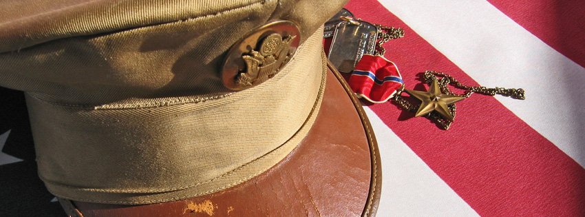 Military Hat and Medals Facebook Cover - Pictures for Memorial Day