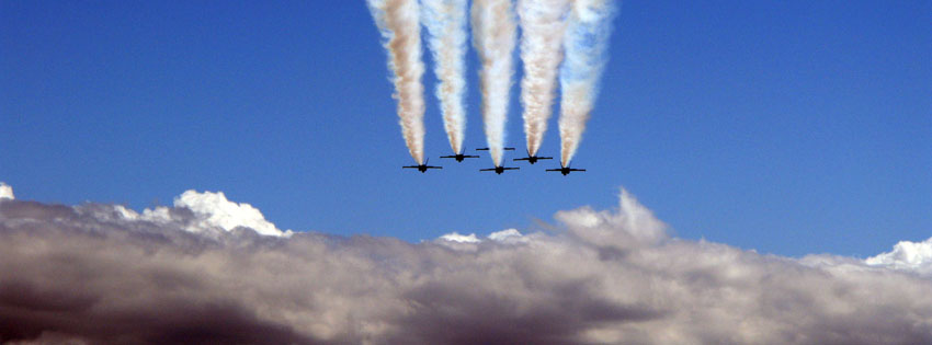 Military Jets Formation Facebook Cover