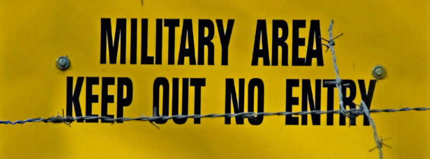 Military Area Keep Out Sign Facebook Cover