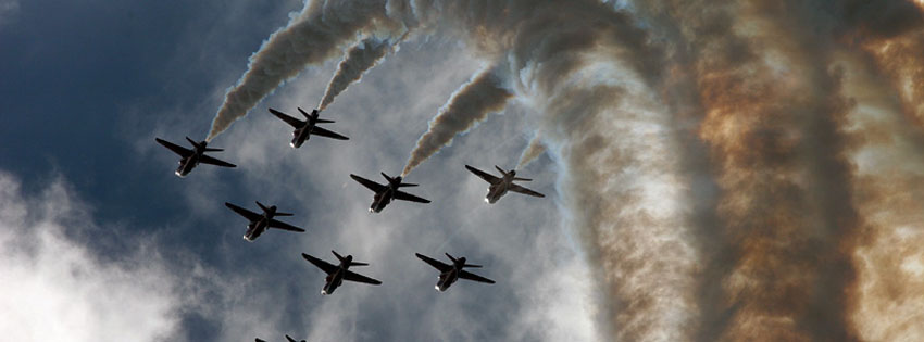 Royal Air Force Red Arrows Facebook Cover