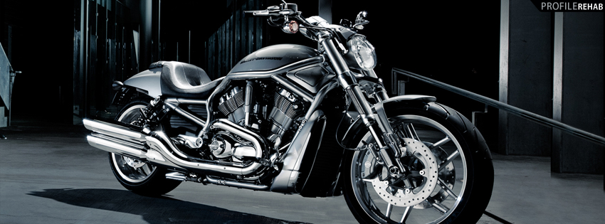 Black Harley Motorcycle Facebook Cover