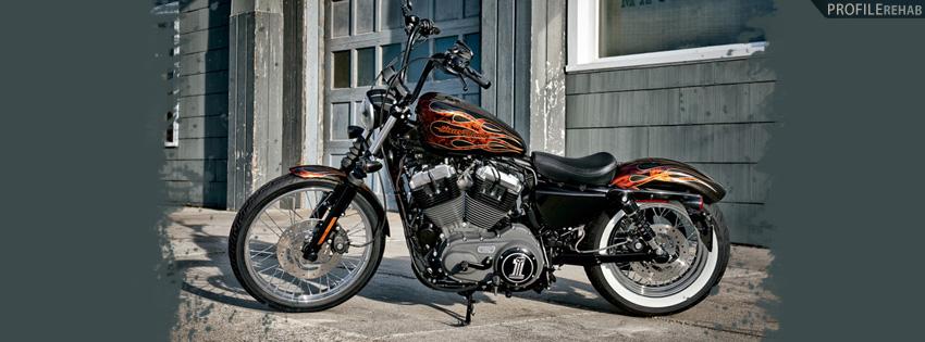 Red & Black Harley Facebook Cover