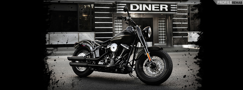 Black Harley Bike Facebook Cover