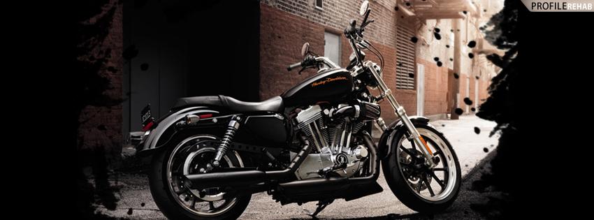 Black Harley Timeline Cover for Facebook