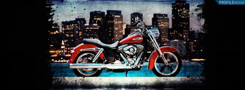 Red Harley Davidson Timeline Cover