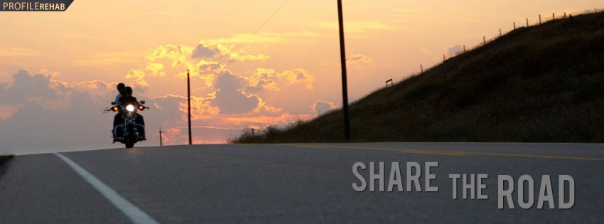 Share the Road Motorcycle Facebook Cover