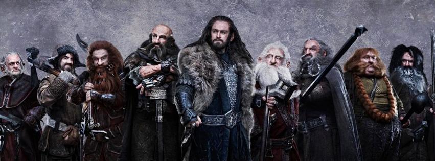 The Hobbit Dwarves Facebook Cover