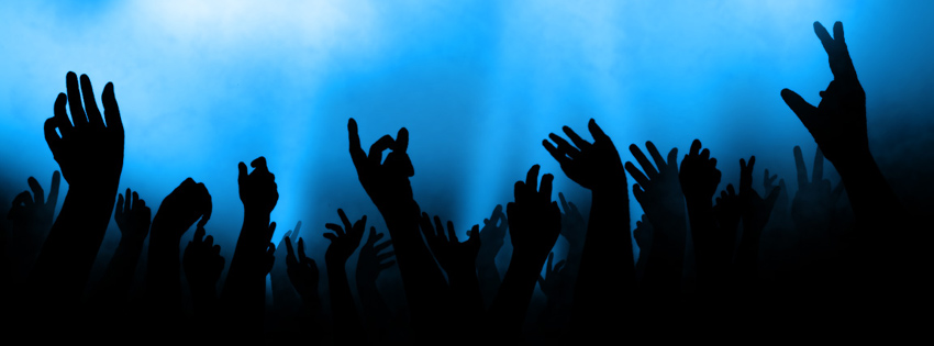 Blue & Black Concert Timeline Cover for Facebook