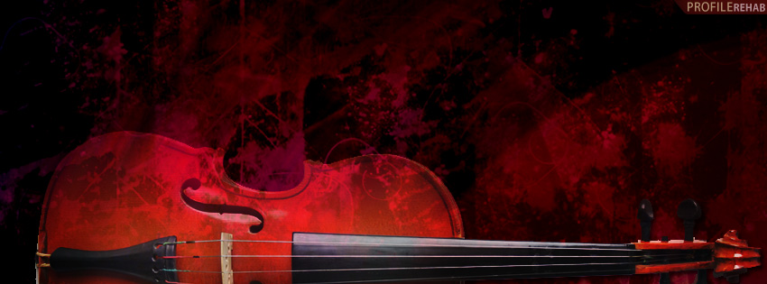 Grunge Violin Facebook Cover