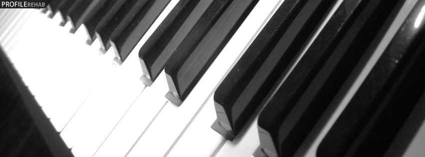 Piano Keys Timeline Cover for Facebook Preview