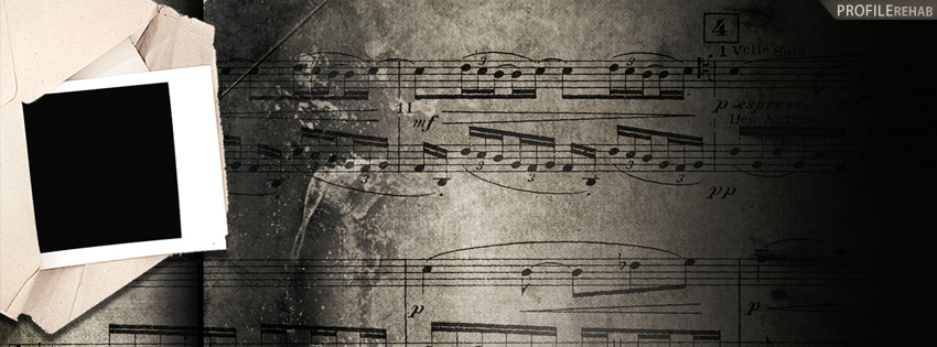 Vintage Piano Music Facebook Cover