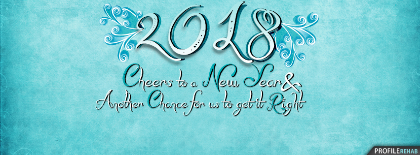 Blue 2017 New Year Facebook Covers