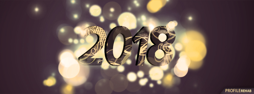 Black and Gold 2018 New Year FB Cover