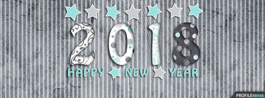 2018 Happy New Year For Facebook Cover