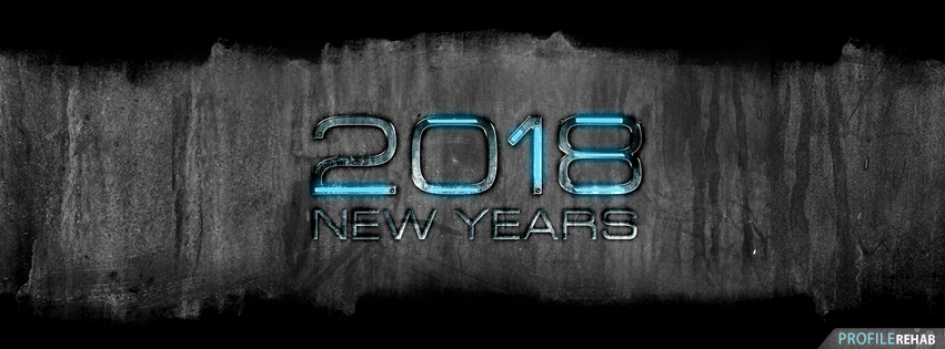 2018 Grunge New Years Facebook Covers