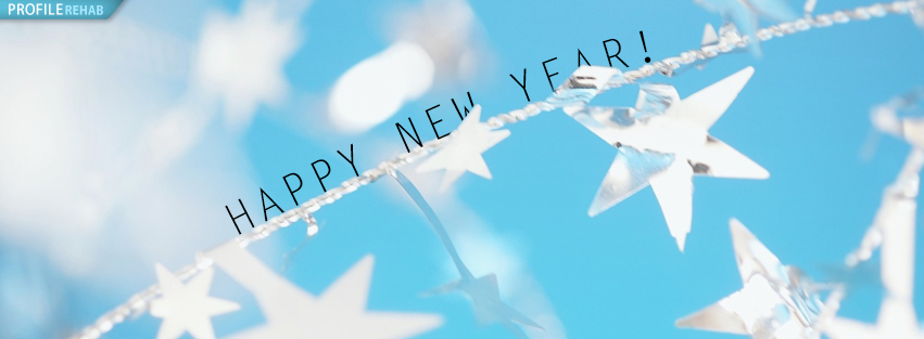 Blue & Silver New Year Cover Photo