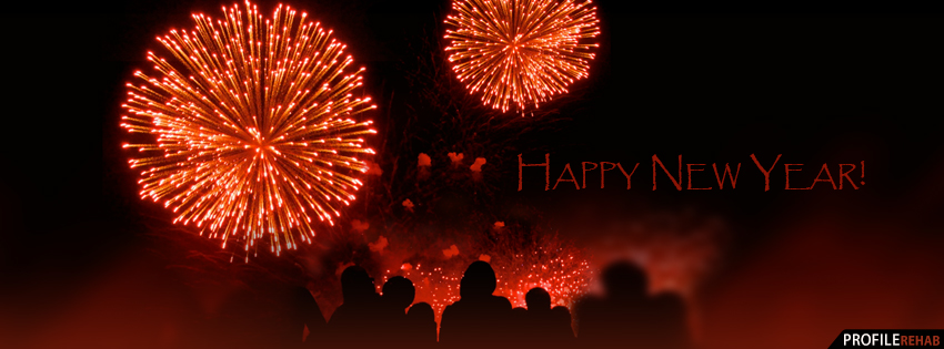 Happy New Year Fireworks Facebook Cover