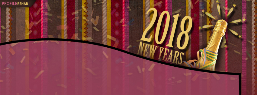 Pink New Years 2018 Facebook Cover