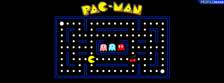 pacman facebook cover for timeline