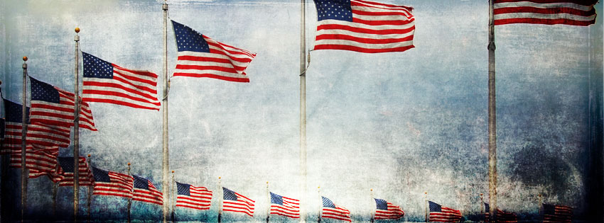 Grunge American Flags Facebook Cover - Picture of Memorial Day