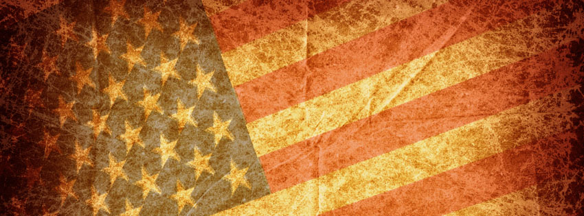 Grunge American Flag Facebook Cover - Images of Memorial Day