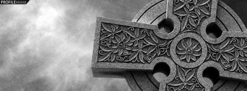 Black and White Cross Facebook Cover