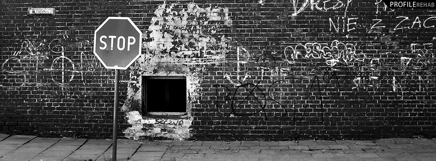 Black and White Wall Facebook Cover