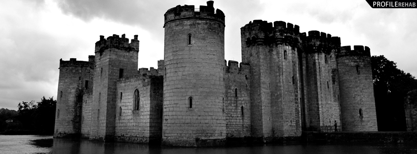 Black and White Photograph of Castle Facebook Cover