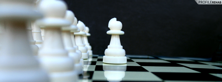 Chess Set Facebook Cover for Timeline
