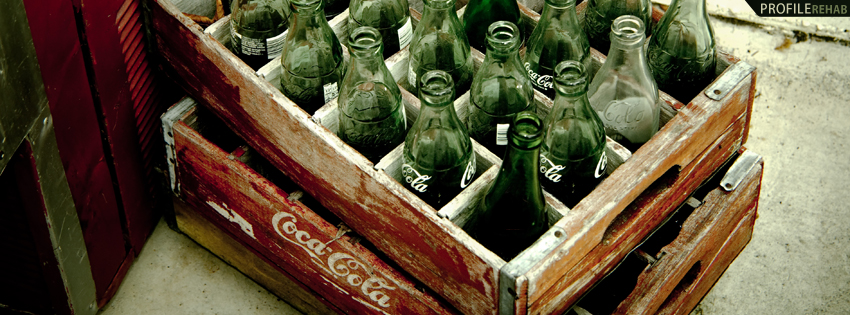 Old Coke Bottles Facebook Cover