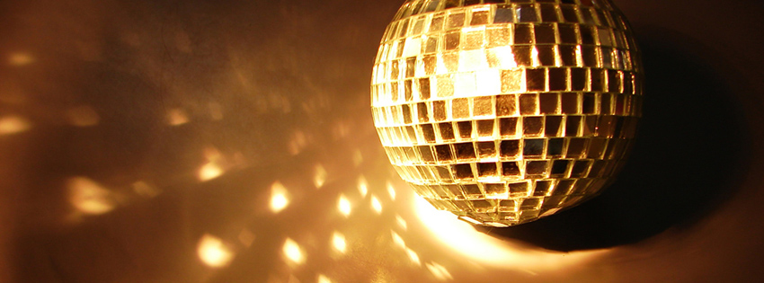 Cool Disco Ball Facebook Cover for Timeline