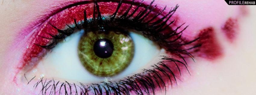 Green Eye with Hearts Photograph Timeline Cover