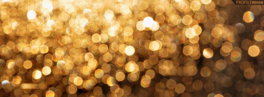 Gold Lights Blur Facebook Cover
