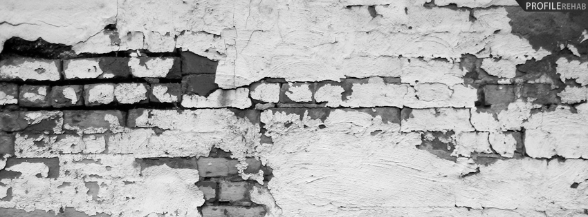 Black and White Grunge Wall Photography Facebook Cover
