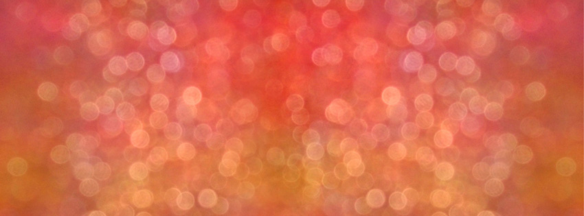 Orange Lens Flare Facebook Cover