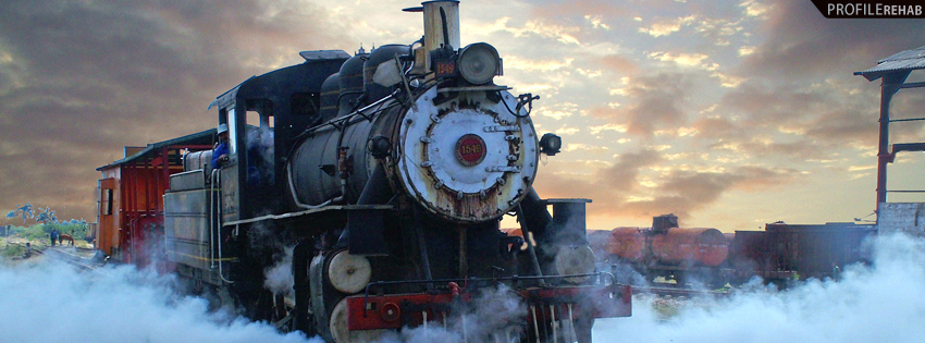 Cool Train Photography Cover for Facebook