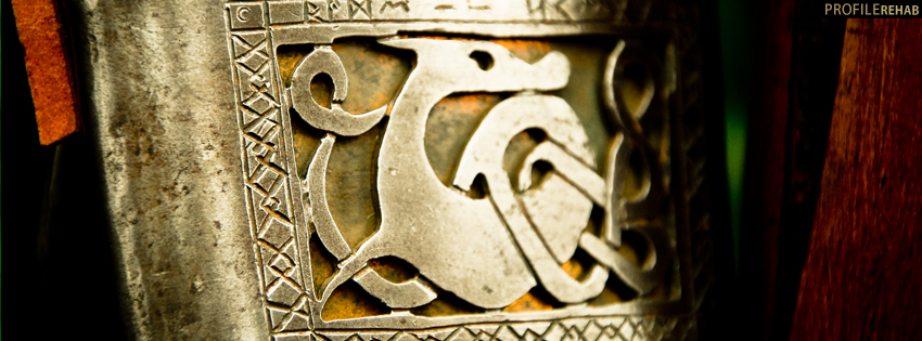 Cool Viking Emblem Facebook Cover
