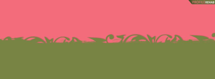 Pink & Green Facebook Cover for Timeline