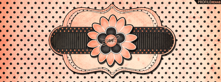 Black & Pink Polkadots Facebook Covers
