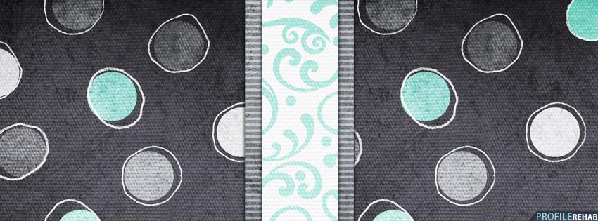 Blue & Black Polkadots Facebook Cover