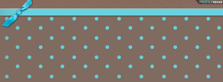 Brown & Blue Polkadot Timeline Cover for Facebook