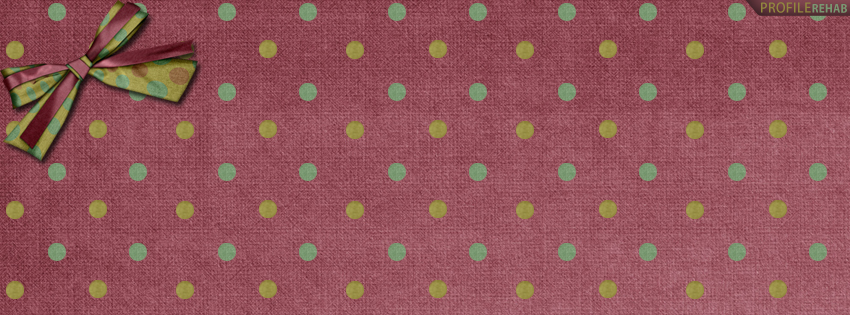 Blue and Green Polkadot Facebook Cover