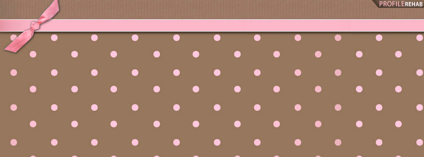 Brown & Pink Polkadot Facebook Cover Preview