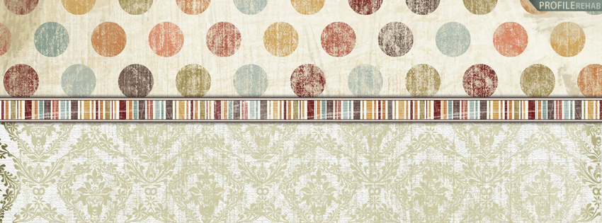 Vintage Polkadots Facebook Cover for Timeline