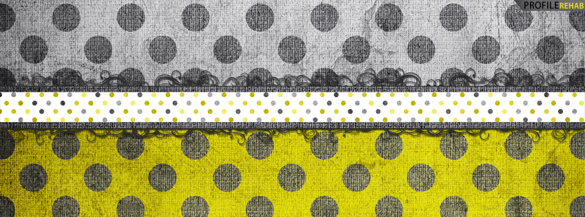 Yellow & Gray Polkadot Facebook Cover for Timeline