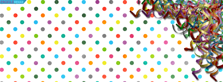 Rainbow Polkadots Celebration Cover for Timeline