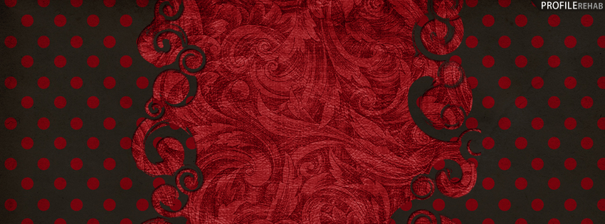 Black & Red Polkadots Vintage Facebook Cover