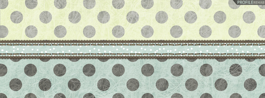Yellow & Blue Polkadot Facebook Cover